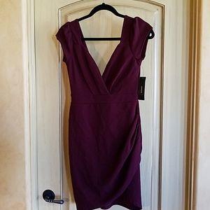 Lulu Burgundy Dress